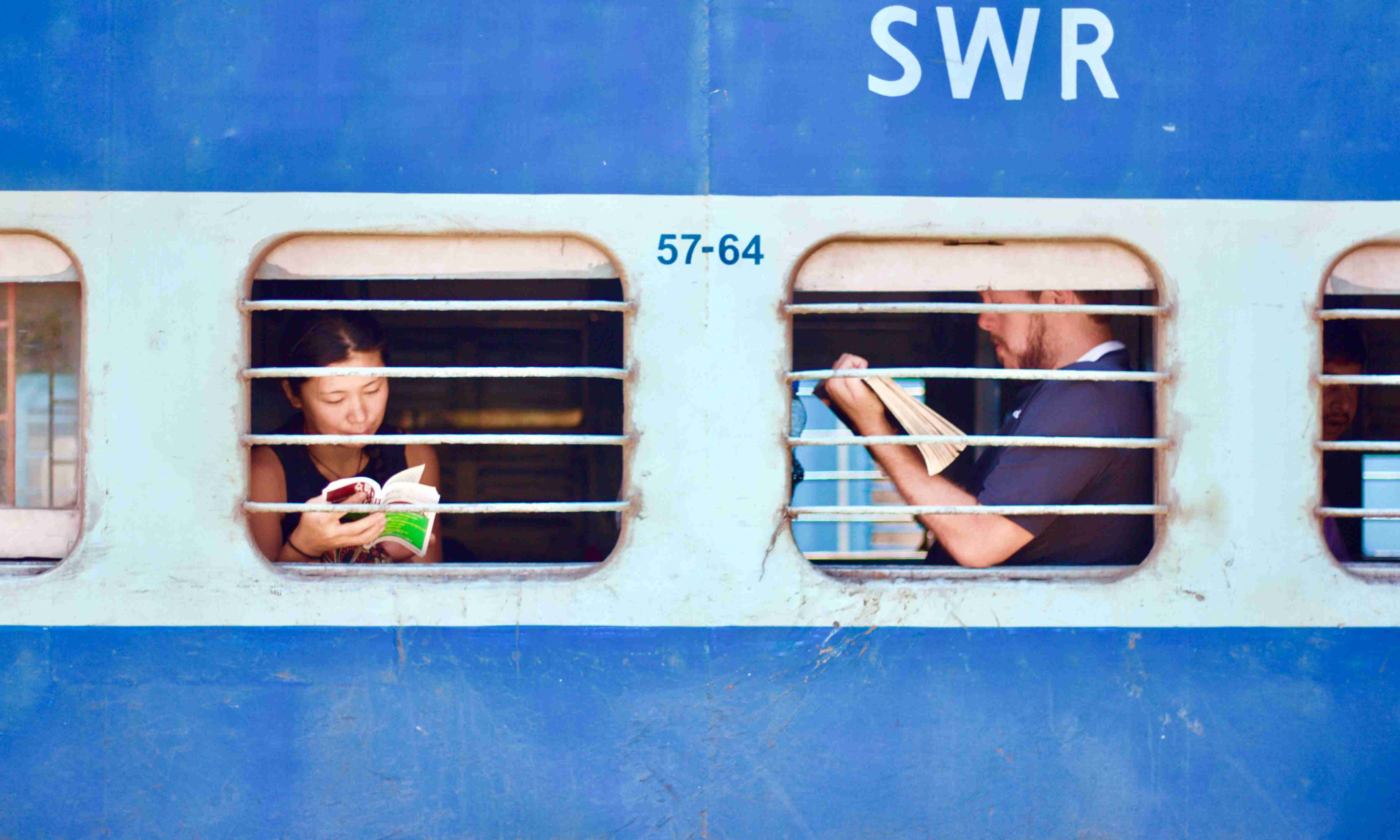 People travelling in train